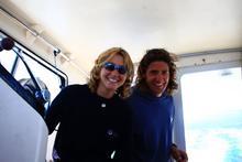 Mattia e Carlotta a bordo