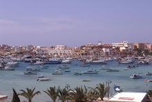 Il porto di Lampedusa
