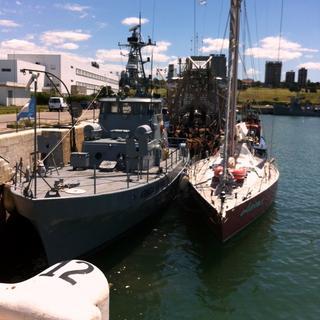 Adriatica nella base dei sottomarini a Mar del Plata, ospite della Marina Militare argentina