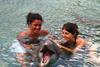 Il bagno con i delfini!