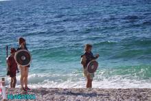 Sulla spiaggia delle Ghiaie, isola d'Elba