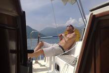 Simone Perotti a bordo